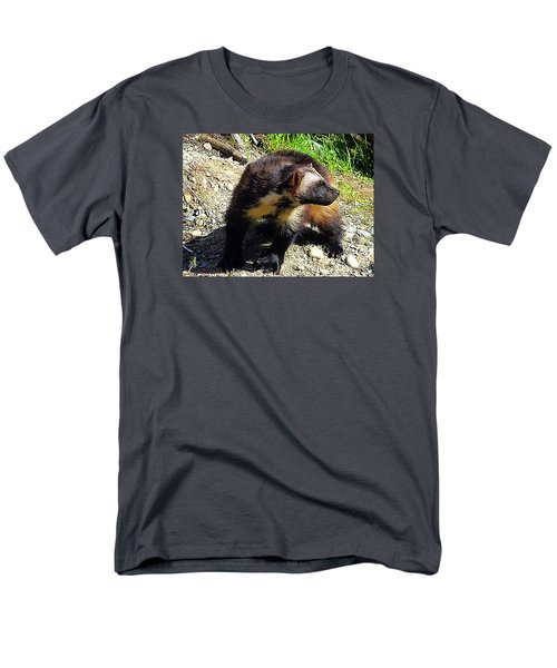 Men's T-Shirt  (Regular Fit) featuring the photograph Wolverine Wilderness by Kathy Kelly