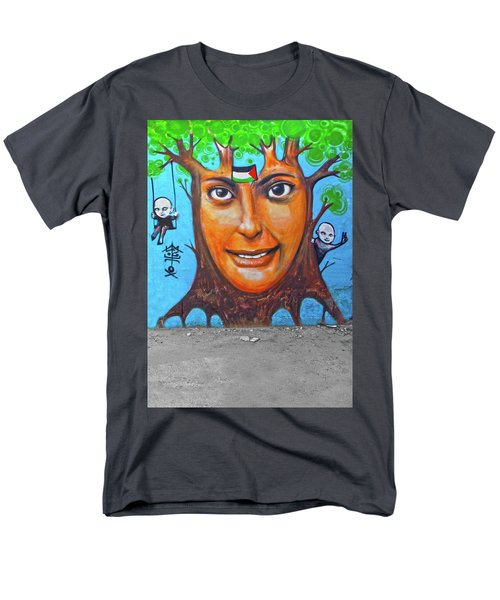 Men's T-Shirt  (Regular Fit) featuring the photograph Woman Tree by Munir Alawi