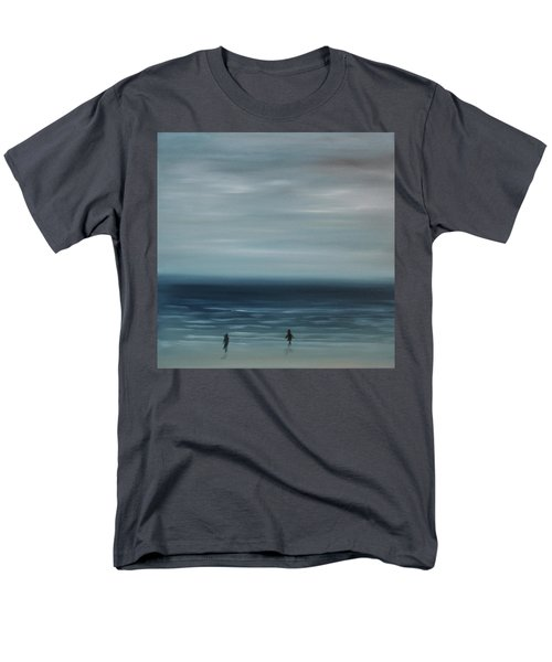 Men's T-Shirt  (Regular Fit) featuring the painting Women On The Beach by Tone Aanderaa