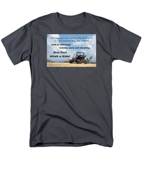 Men's T-Shirt  (Regular Fit) featuring the photograph Woo Hoo What A Ride by Karen Lee Ensley