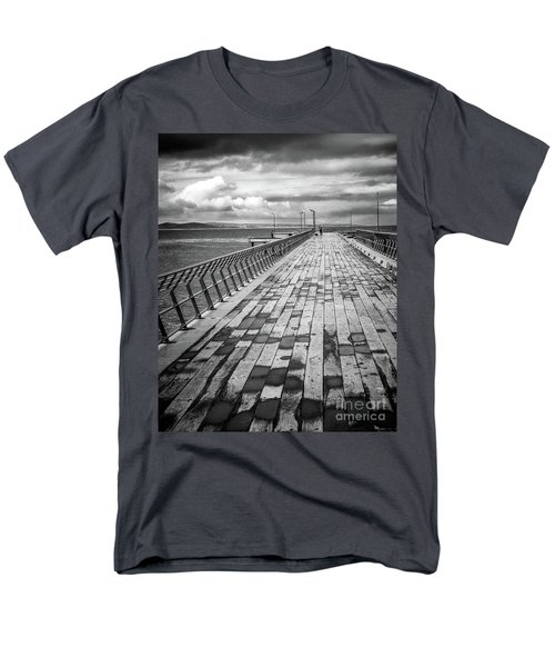 Men's T-Shirt  (Regular Fit) featuring the photograph Wood And Pier by Perry Webster