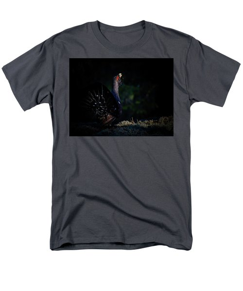 Men's T-Shirt  (Regular Fit) featuring the photograph Wood Grouse's Sunbeam by Torbjorn Swenelius
