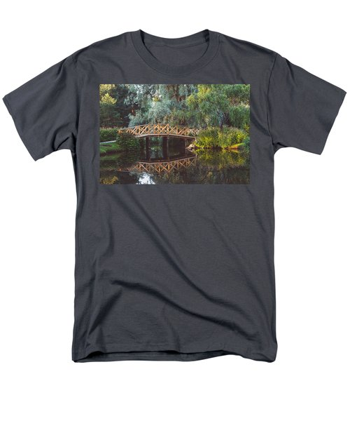Men's T-Shirt  (Regular Fit) featuring the photograph Wooden Bridge by Ari Salmela
