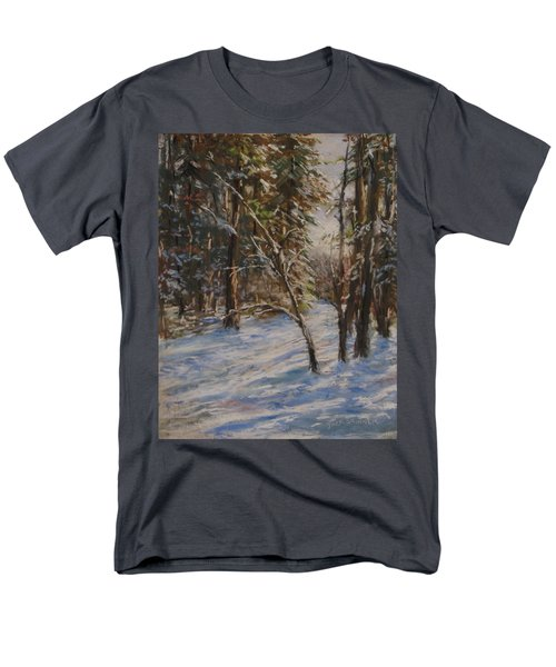 Woods And Snow At Two Below Men's T-Shirt  (Regular Fit) by Jack Skinner