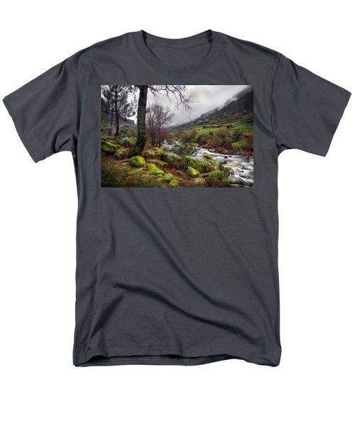 Woods Landscape Men's T-Shirt  (Regular Fit) by Carlos Caetano