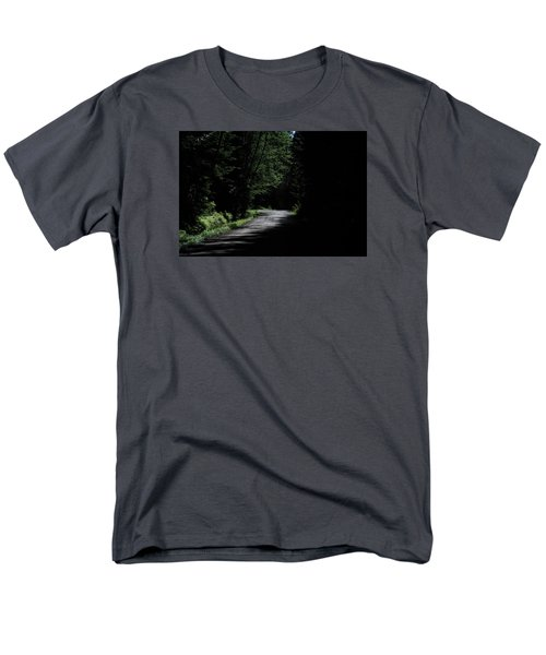 Woods, Road And The Darkness Men's T-Shirt  (Regular Fit) by John Rossman