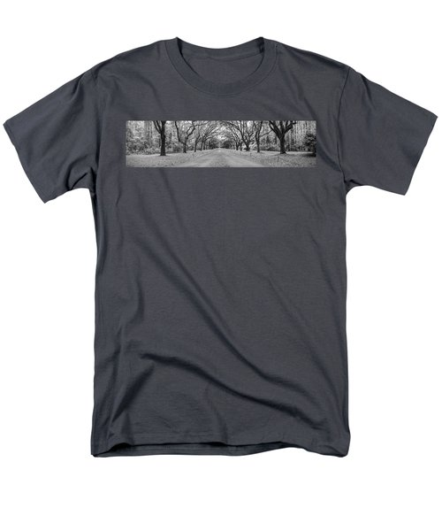 Men's T-Shirt  (Regular Fit) featuring the photograph Wormsloe Pathway by Jon Glaser