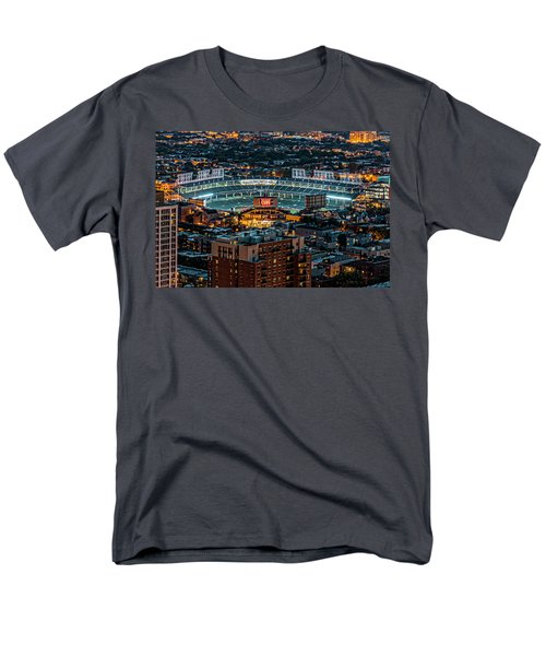 Wrigley Field From Park Place Towers Dsc4678 Men's T-Shirt  (Regular Fit) by Raymond Kunst