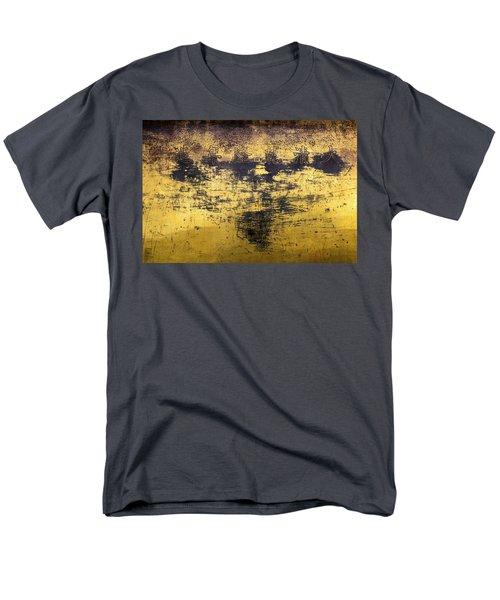Men's T-Shirt  (Regular Fit) featuring the photograph Writing On Metal, Beijing, 2016 by Hitendra SINKAR