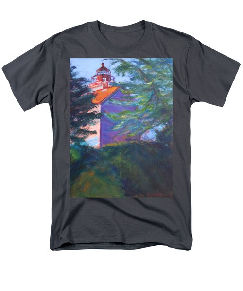 Yaquina Bay Lighthouse  Men's T-Shirt  (Regular Fit) by Quin Sweetman