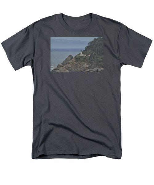 Yaquina Bay Lighthouse Men's T-Shirt  (Regular Fit) by Tom Kelly