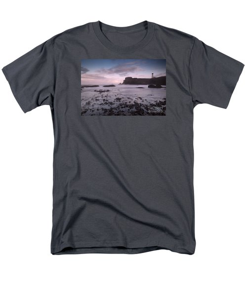 Yaquina Head Lighthouse Men's T-Shirt  (Regular Fit) by Keith Kapple