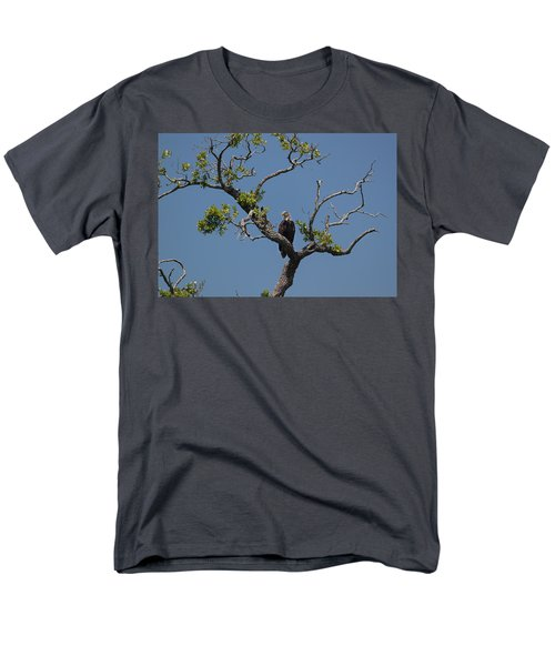 Men's T-Shirt  (Regular Fit) featuring the photograph Yawkey Wildlife Reguge - American Bald Eagle by Suzanne Gaff