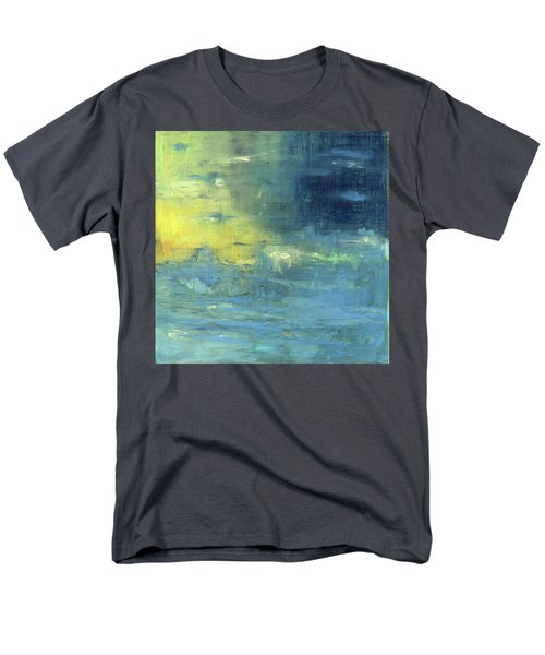 Men's T-Shirt  (Regular Fit) featuring the painting Yearning Tides by Michal Mitak Mahgerefteh