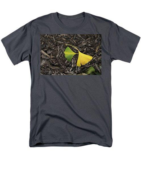 Yellow And Green Gingko Men's T-Shirt  (Regular Fit)