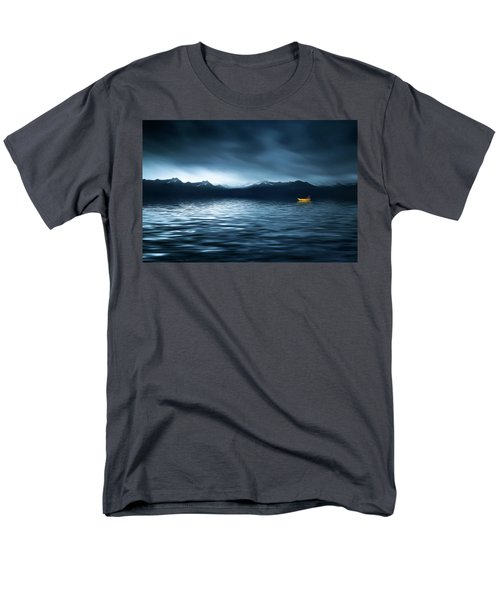 Men's T-Shirt  (Regular Fit) featuring the photograph Yellow Boat by Bess Hamiti