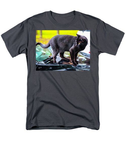 Men's T-Shirt  (Regular Fit) featuring the photograph Yellow Eyed Cat by Madeline Ellis