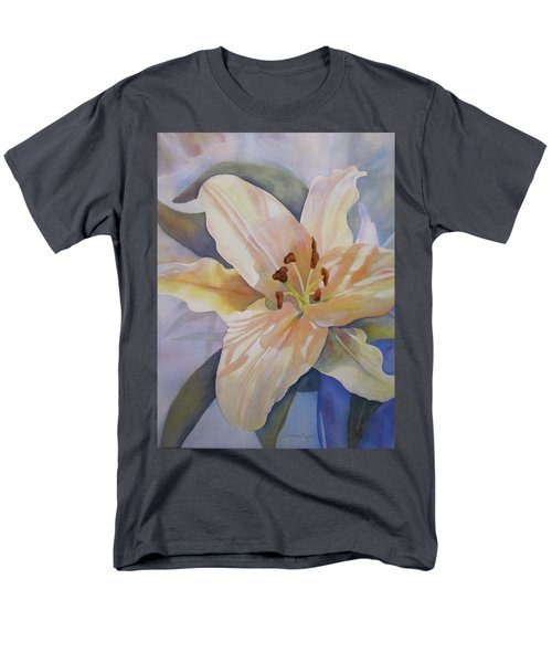 Yellow Lily Men's T-Shirt  (Regular Fit) by Teresa Beyer