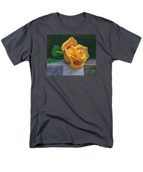 Men's T-Shirt  (Regular Fit) featuring the painting Yellow Rose by Janet King