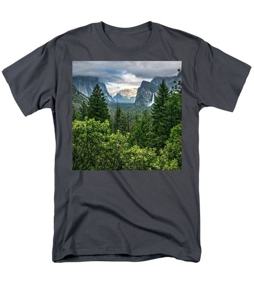 Last Light For Tunnel View Men's T-Shirt  (Regular Fit) by Ryan Weddle