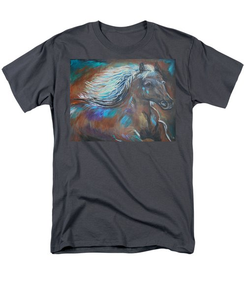 Men's T-Shirt  (Regular Fit) featuring the painting Your Majesty by Leslie Allen