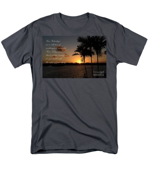Men's T-Shirt  (Regular Fit) featuring the photograph Your Yesterdays And Todays by Pamela Blizzard