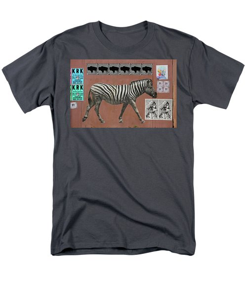 Men's T-Shirt  (Regular Fit) featuring the photograph Zebra Collage by Art Block Collections