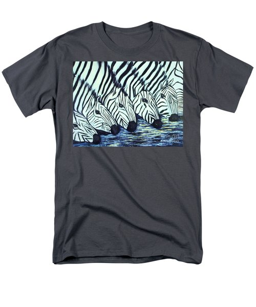 Men's T-Shirt  (Regular Fit) featuring the painting Zebra Line by Donna Dixon