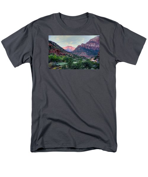 Zion National Park Men's T-Shirt  (Regular Fit) by Charlotte Schafer