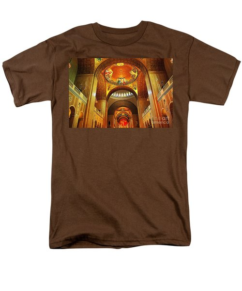 Men's T-Shirt  (Regular Fit) featuring the photograph  Basilica Of The National Shrine Of The Immaculate Conception by John S