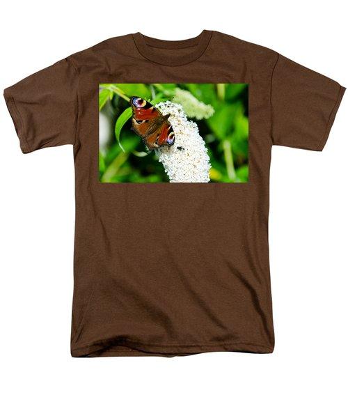 Peacock Butterfly Men's T-Shirt  (Regular Fit) by Martina Fagan