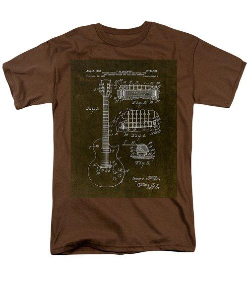 1955 Gibson Les Paul Patent Drawing Men's T-Shirt  (Regular Fit) by Gary Bodnar
