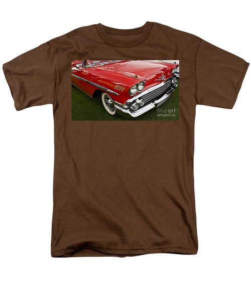 1958 Chevy Impala Men's T-Shirt  (Regular Fit) by Linda Bianic