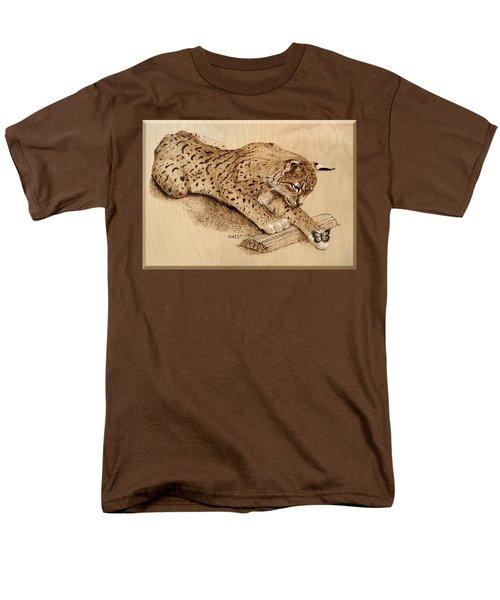 Bobcat And Friend Men's T-Shirt  (Regular Fit) by Ron Haist