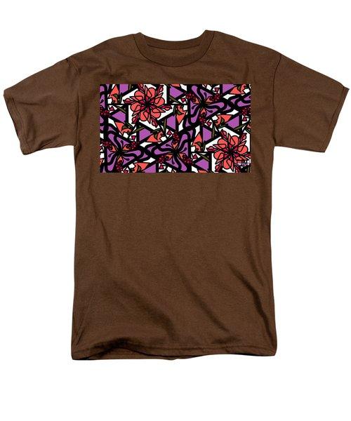 Men's T-Shirt  (Regular Fit) featuring the digital art Digi-flora by Elizabeth McTaggart