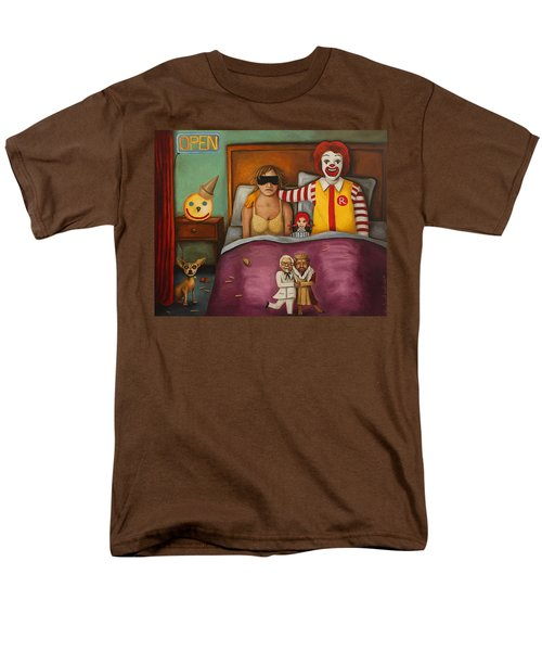 Fast Food Nightmare Men's T-Shirt  (Regular Fit) by Leah Saulnier The Painting Maniac