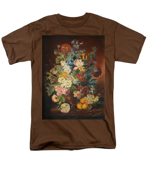 Men's T-Shirt  (Regular Fit) featuring the painting Flowers Of Light by Mary Ellen Anderson