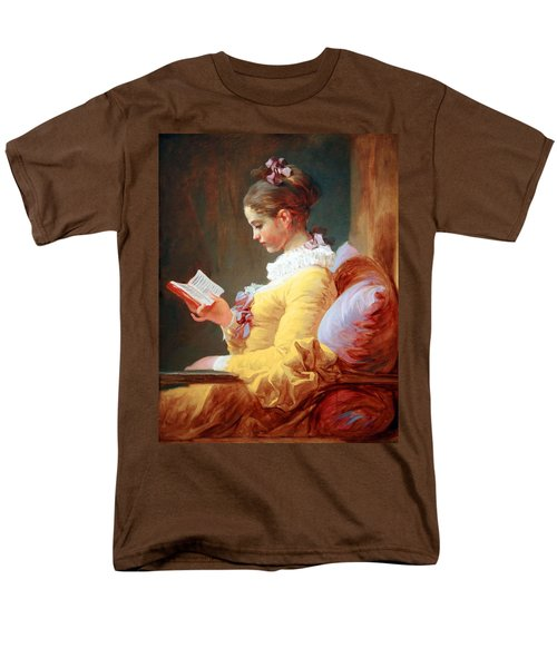 Men's T-Shirt  (Regular Fit) featuring the photograph Fragonard's Young Girl Reading by Cora Wandel