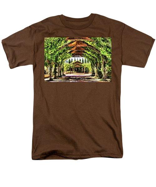 Men's T-Shirt  (Regular Fit) featuring the painting Garden by Muhie Kanawati