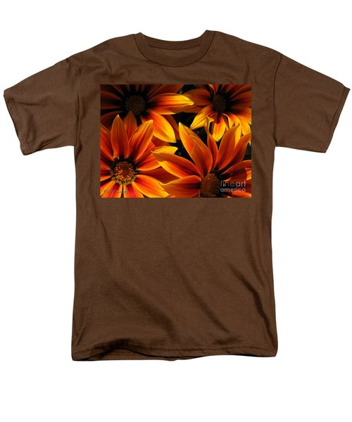 Men's T-Shirt  (Regular Fit) featuring the photograph Gazania Named Kiss Orange Flame by J McCombie