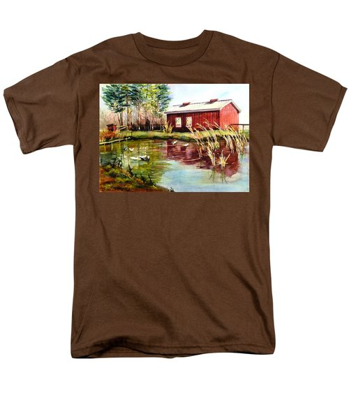 Green Acre Farm Men's T-Shirt  (Regular Fit) by Betty M M   Wong