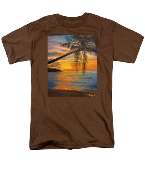 Men's T-Shirt  (Regular Fit) featuring the painting Hawaiian Sunset 11 by Jenny Lee