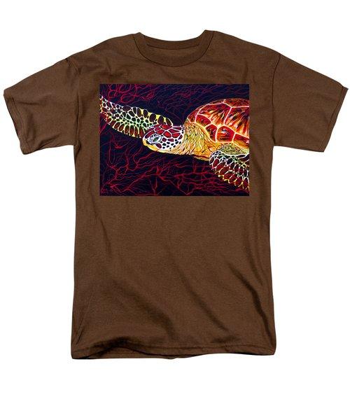 Hawksbill Turtle Men's T-Shirt  (Regular Fit) by Debbie Chamberlin