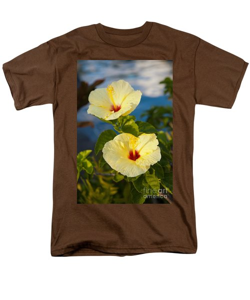 Men's T-Shirt  (Regular Fit) featuring the photograph Bright Yellow Hibiscus by Roselynne Broussard