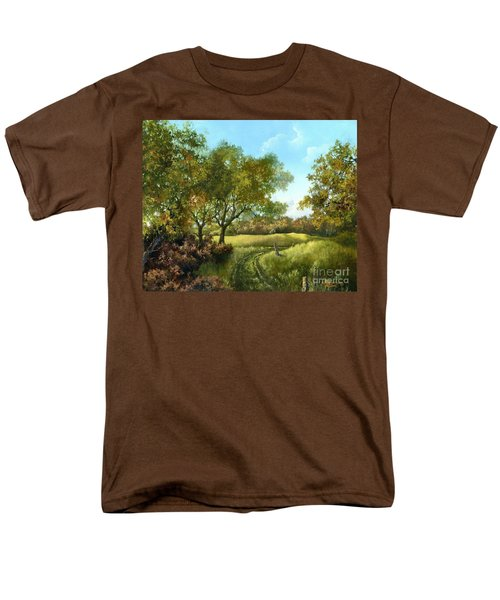 Men's T-Shirt  (Regular Fit) featuring the painting Luray Pasture by Lynne Wright