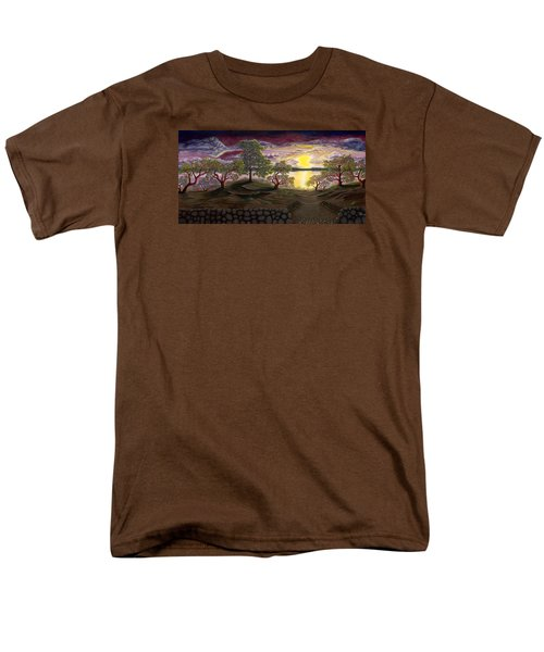 Peaceful Sunset Men's T-Shirt  (Regular Fit) by Rebecca Parker