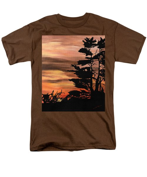 Men's T-Shirt  (Regular Fit) featuring the painting Silhouette Sunset by Mary Ellen Anderson