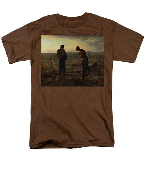 The Angelus Men's T-Shirt  (Regular Fit) by Jean Francois Millet