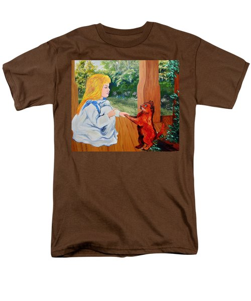 Men's T-Shirt  (Regular Fit) featuring the painting The Dance Lesson by Karon Melillo DeVega