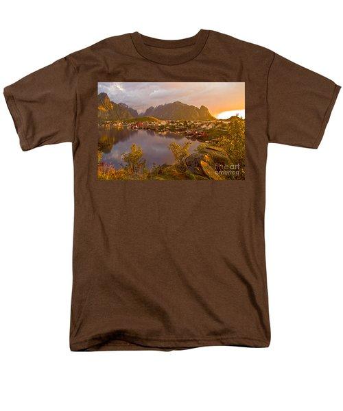 The Day Begins In Reine Men's T-Shirt  (Regular Fit) by Heiko Koehrer-Wagner